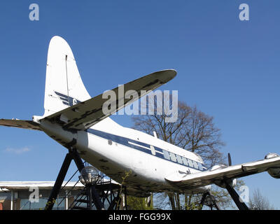 De Havilland Heron at Croydon Airport, Surrey, England - Stock Photo