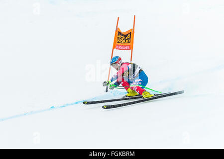 Chamonix, France. 20th February, 2016. USA ski team member Steven NYMAN skied to podium at 2nd place. The Audi FIS - Stock Photo