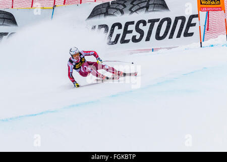Chamonix, France. 20th February, 2016. JANSRUD Kjetil of Norway. The Audi FIS World Cup 9th Men's Downhill took - Stock Photo