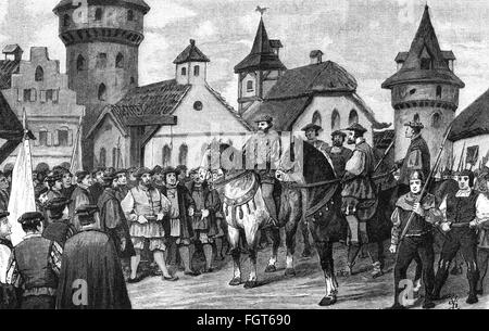The history of the 1524 peasant revolt in germany