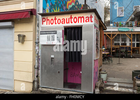 an old photoautomat photo booth in florence italy stock photo royalty free image 310252063. Black Bedroom Furniture Sets. Home Design Ideas