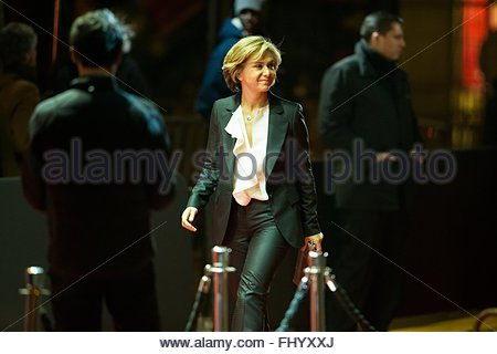 Paris, France. February 26th, 2016. FRANCE, Paris: French President of the Regional Council of Ile-de-France Valerie - Stock Photo