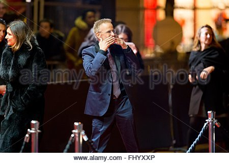 Paris, France. February 26th, 2016. FRANCE, Paris: French actor Christophe Lambert walks on the red carpet of the - Stock Photo