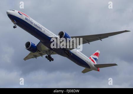 British Airways Boeing 777 - Stock Photo