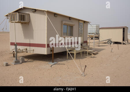 Modern bedouin trailer camp - Stockfoto