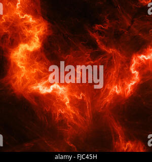 Red high energy lightening, computer generated abstract background - Stock Photo