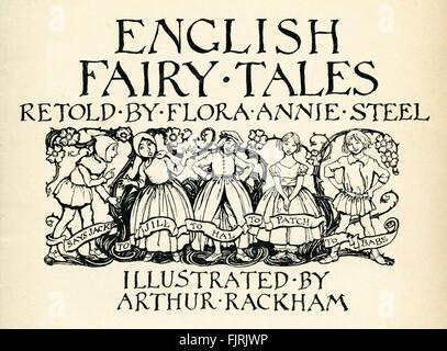 Englische Märchen Frontispiz, Illustration von Arthur Rackham (1867-1939) - Stockfoto