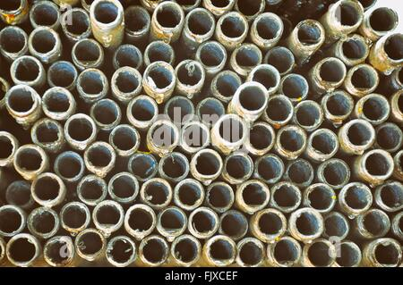 Full Frame Shot Of Pipes In Industry - Stock Photo