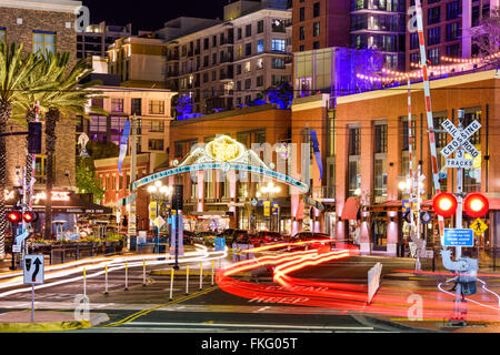 ... Gaslamp Quarter At Night In San Diego, California, USA.   Stock Photo