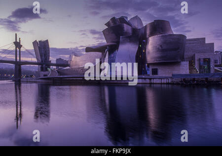 Guggenheim Museum by Frank O. Gehry. Bilbao. Vizcaya. Spain - Stock Photo