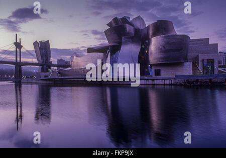 Guggenheim Museum by Frank O. Gehry. Bilbao. Vizcaya. Spain - Stock Photo