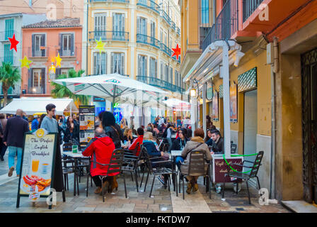 malaga spain people sitting at the terrace of tapas bar el stock photo royalty free image. Black Bedroom Furniture Sets. Home Design Ideas