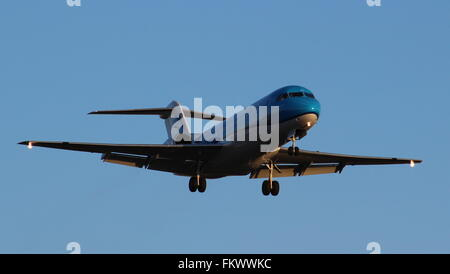 Landing at London Heathrow Airport - Stock Photo