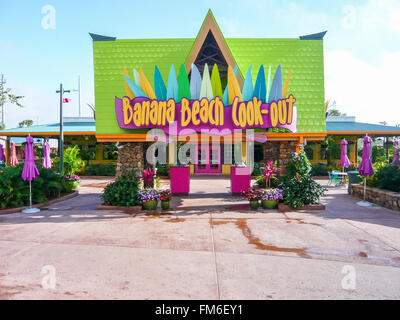 Banana Beach cook-out, Aquatica, Florida. - Stock Photo
