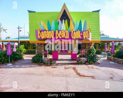 Banana Beach cook-out, Aquatica, Florida. - Stock Photo