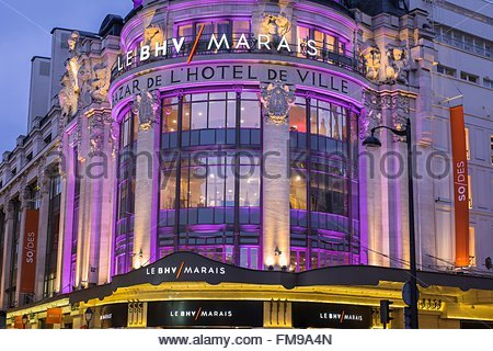 France Paris Facade Of The Department Store Le Printemps
