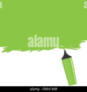 Green highlighter coloring the background - Stockfoto