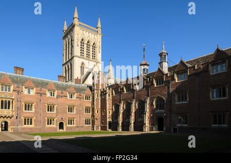 A quad at St Johns College, part of the University of Cambridge, England, United Kingdom. - Stock Photo
