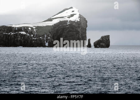 Entry Point at Deception Island, South Shetland Islands archipelago, northwest side of the Antarctic Peninsula. - Stock Photo