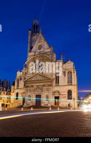 Church of Saint Etienne du Mont, Paris, Ile-de-france, France - Stock Photo