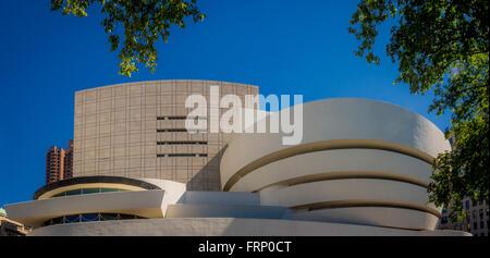 The Guggenheim Museum, New York City, USA - Stock Photo
