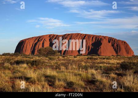 sunset at uluru in the northern territory australia - Stock Photo