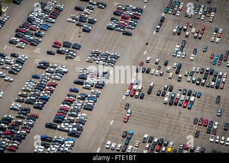 Aerial View Of Parking Lot - Stock Photo
