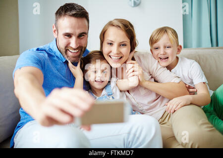 Happy selfie - Stockfoto