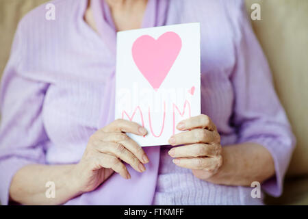 Showing greeting-card - Stock Photo