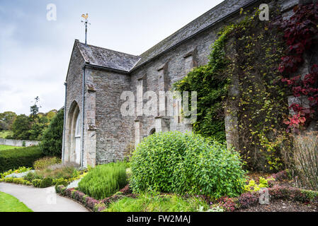 Buckland Monachorum, United Kingdom - October 8, 2015: Buckland Abbey, Garden and Estate, a National Trust property - Stock Photo