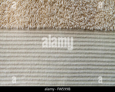 Brownish-yellow bath towel texture - Stock Photo