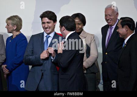 April 1, 2016 - Washington, District of Columbia, United States of America - Justin Trudeau, Canada's prime minister, - Stock Photo