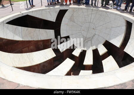 Jantar Mantar observatory, Jaipur, Rajasthan, India - Stockfoto