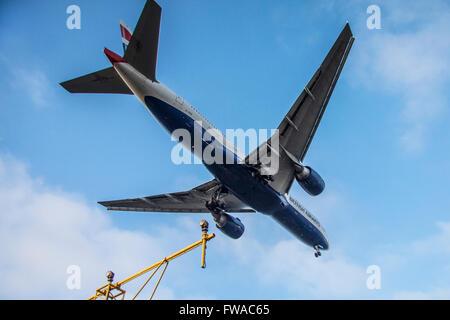 Aircraft Landing - Stock Photo