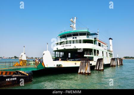 Ferry at Lido di Venezia, Venice, Veneto, Italy - Stock Photo
