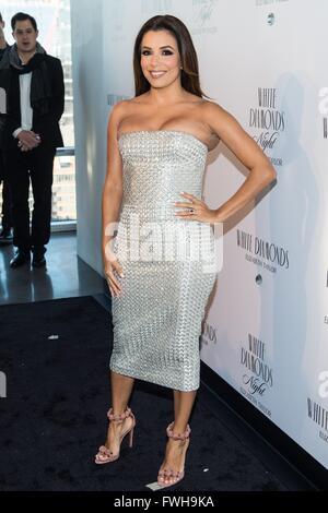 New York, NY, USA. 5th Apr, 2016. Eva Longoria at arrivals for Elizabeth Taylor White Diamonds 25th Anniversary - Stock Photo