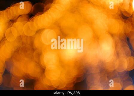 Full Frame Shot Of Illuminated Defocused Lights - Stock Photo