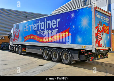 Articulated lorry and trailer with large advert promoting Next store Stock Photo, Royalty Free ...