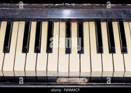 close up shot of piano keys - Stock Photo