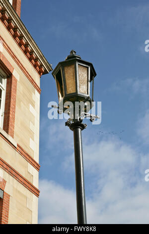 Vintage street light lamp in the Cite Universitaire in Paris, France - Stock Photo