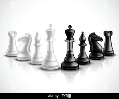 Chess Pieces Illustration - Stock Photo
