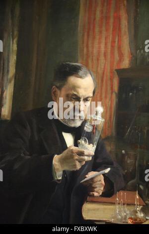 Louis Pasteur. Portrait, 1885 by painter Albert Edelfelt (1854-1905). Oil on canvas. Orsay Museum. Paris. France. - Stock Photo