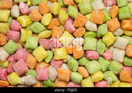 Fruity candy without wrappers - Stock Photo