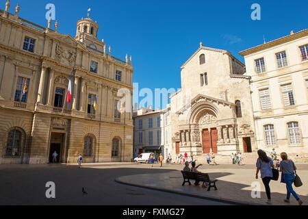 Place de la République, Arles, France - Stock Photo