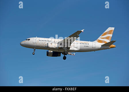 British Airways Airbus A 319-131 SCO 10,334 REG' G-EUPD.  SCO 10,334. - Stock Photo