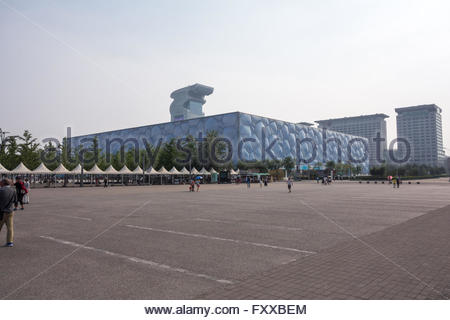 The Water Cube National Aquatics Center, Olympic Park, in beijing china , May 2015 - Stock Photo