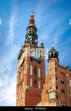 Gdansk, Town Hall on the Long Market, Poland, Europe - Stock Photo