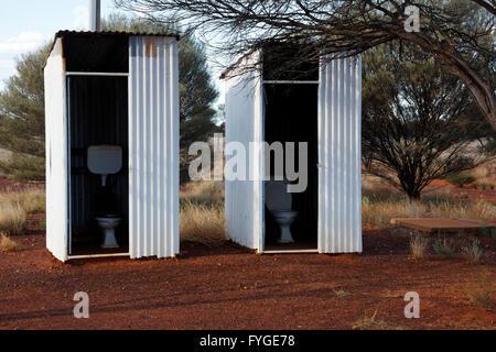 Lake Mason abandoned outback homestead, Central Midlands Western Australia - Stock Photo