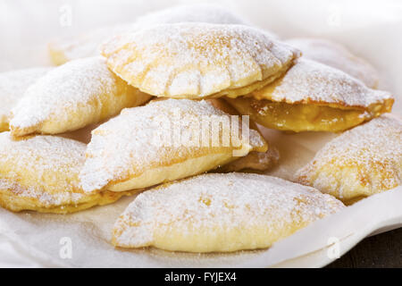 Delicious Cookies on Plate with White Paper - Stock Photo
