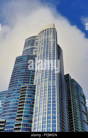 The 62-floor One Museum Park is an entirely residential building and the tallest structure on Chicago's south side. - Stock Photo